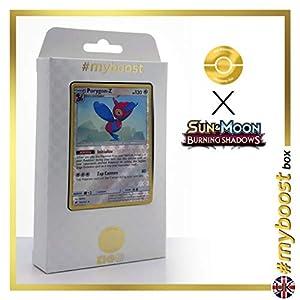 Porygon-Z 105/147 Holo Reverse - #myboost X Sun & Moon 3 Burning Shadows - Box de 10 cartas Pokémon Inglesas