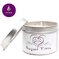 Bougie Parfumée Super Tata Parfum au choix Bougie Naturelle Cadeau Tata Cadeaux Noël Cadeaux Anniversaire Merci Cadeaux Cadeaux Personnalisés