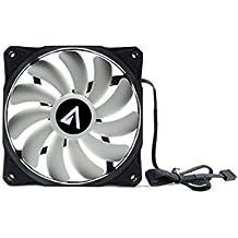 Abysm Breeze - Ventilador gaming para PC de 11 aspas PWM 120 mm, color blanco y negro