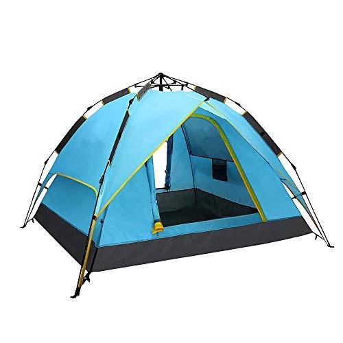 Ronghuafugui Outdoor-Zelt 3-4 Personen Automatische Verdickung regendichtes Outdoor-Zelt (Color : Green, Size : A)