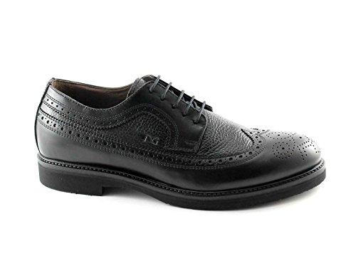 NERO GIARDINI 4420 nero scarpe uomo eleganti derby inglese pelle 39