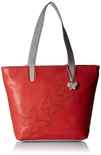 Butterflies Women\'s Handbag (Red) (BNS 0589RD)