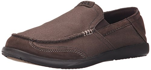 Crocs - Walu Luxe Canvas Homme Slip-On Loafer Espresso/Espresso