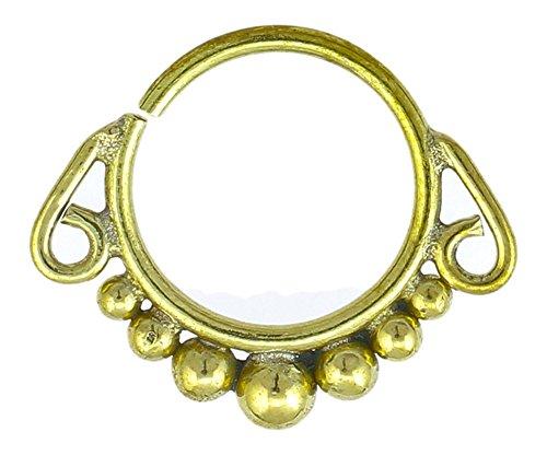 Chic-Net-Piercing SETTO naso anelli palle Spiral Bogen in ottone Tribal oro senza nichel antico esotica orecchino
