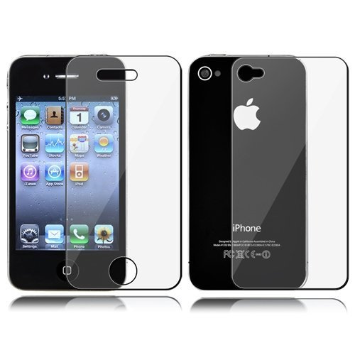 Dynamic - USA Company - Front & Back Anti-glare Screen Protector Guard File for Apple Iphone 4 4s