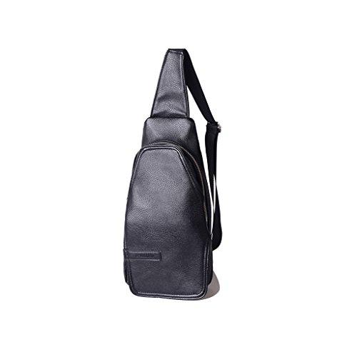 Herren Mini Brusttasche Freizeittasche Sport Rucksack Black