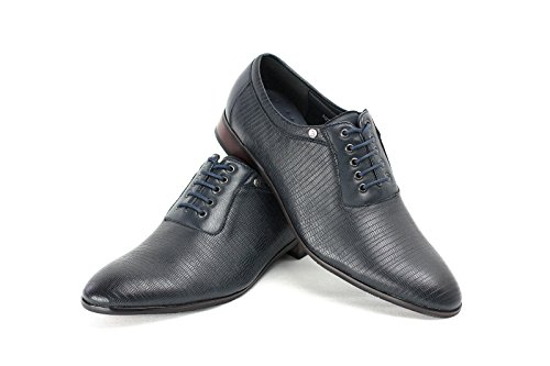 Chaussures Homme Mode Cuir Italien Look Style Oxford taille EU 23 7 8 9 10 11 Bleu Marine