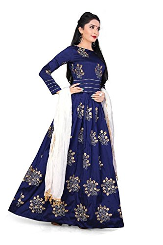Eid Special Offer gowns for women party wear (lehenga choli for wedding function salwar suits for women gowns for girls party wear 18 years latest sarees collection 2017 new design dress for girls designer sarees new collection today low price new gown for girls party wear) (blue)