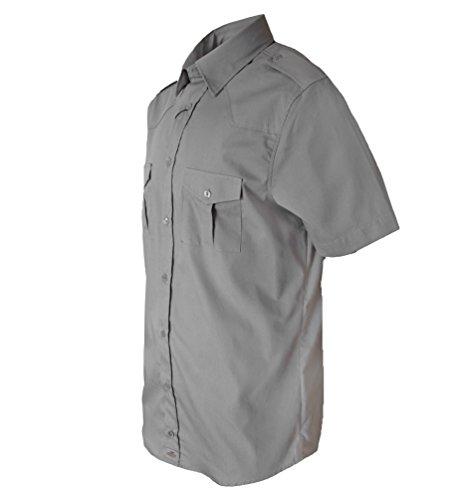 ROCK-IT Herren Hemd kurzarm US-Hemd im military Look Worker Hemd Worker shirt Freizeithemd Arbeitshemd made in Europa Größen S-5XL Farben schwarz olive charcoal Navy Hellblau Braun Charcoal