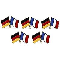 5er Pack Deutschland - Frankreich Freundschaftspin Yantec Pin Flagge