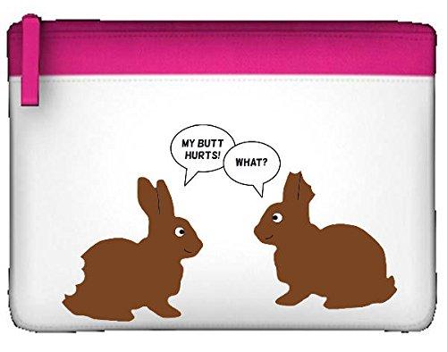 Preisvergleich Produktbild Schokolade Osterhase Witz My Butt Hurts, was Cute Funny Tiermotiv Federmäppchen, flach Einheitsgröße rose
