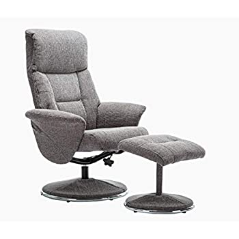 Wheat Fabric Morris Living The Milano Swivel Recliner Chair