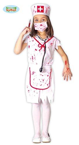 KINDERKOSTÜM - KRANKENSCHWESTER - Größe 110-115 cm ( 5-6 Jahre ), Kleinkinder Monster Zombies Untote (Krankenschwester Kostüm Für Kleinkinder)