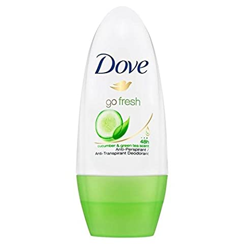 Dove Go Concombre Frais Roll-On Anti-Transpirant Déodorant 50Ml (Lot de 6)