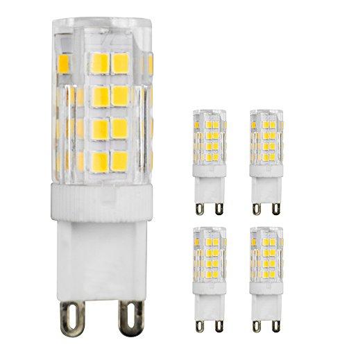 5 lampadine attacco G9, LED 5W, rimpiazza 350lm bianco caldo, 51 x LED SMD 2835, fascio AC220 V 360, 240 V