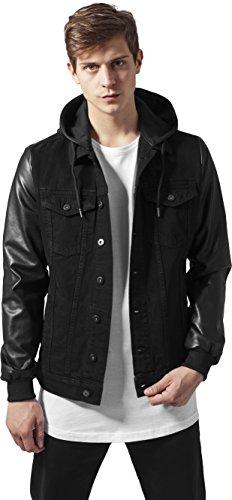 Urban Classics Herren Jeansjacke Jacke schwarz schwarz L Schwarz