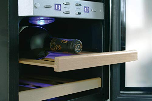 CASO WineDuett 21 Design Weinkühlschrank für bis zu 21 Flaschen (bis zu 310 mm Höhe), zwei...