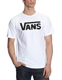 Vans Classic VGGG, Camiseta Para Hombre, Blanco (White/Black), L