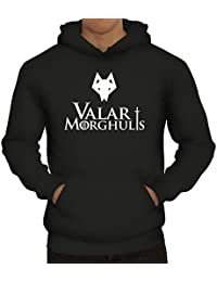 Shirtstreet24, Valar Moghulis Wolf, Herren Kapuzen Sweatshirt - Pullover Hoodie