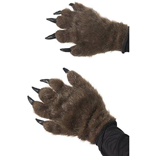 Haarige Monster-Hände, Braun (Hände Haarige Braun)
