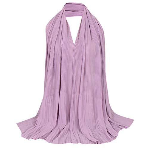 Lazzboy Frauen Abaya Islamischen Muslimischen Nahen Osten Hijab Scarf Wrap Headwear Damen Viskose Hijabs Schals Schöne Caps Schal Kopftuch - Plain Printe Stirnband Muslim(I)