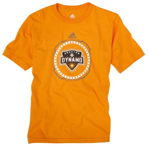 adidas MLS Houston Dynamo Voll Gepanzerten T-Shirt Youth, Kinder, Hellorange