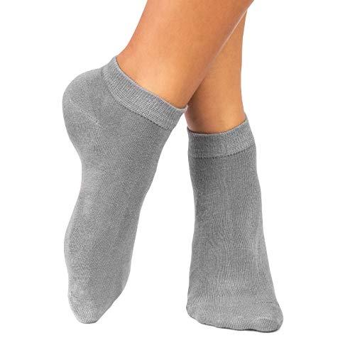 lampox® - Sneaker ♻Bambussocken - 6 Paar - Geruchshemmend - Antibakteriell - Socken (47-50, Grau) (Stabilität Sneakers)