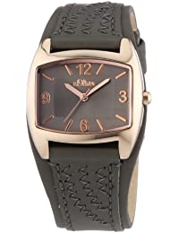 s.Oliver Damen-Armbanduhr XS Analog Quarz Leder SO-2768-LQ