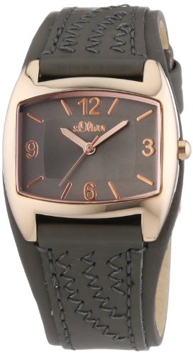 s.Oliver Women's Quartz Watch SO-2768-LQ with Leather Strap