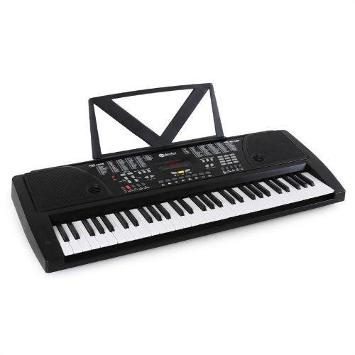 Schubert Ètude-61B Tastiera musicale, casse interne, 61 tasti, pianola elettronica per principianti, altoparlanti integrati, display LCD, effetti sonori) - nero