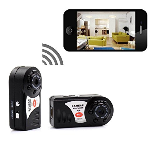 Mini spy Camera , PANNOVO wireless wifi IP P2P hidden Video Camera With Infrared Night Vision Wireless Video recorder