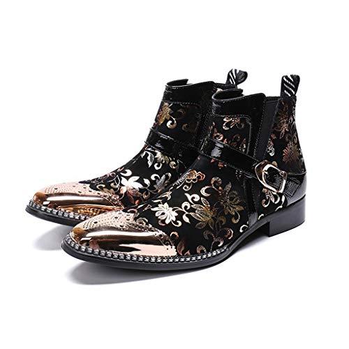 Mr.Zhang's Art Home Men's shoes Botas de Invierno de Hombre Vintage Negras.