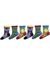 Sock Snob - 6 paires de garçons Bébés Chaussettes multicolore brillant zoo pack et animaux de la ferme