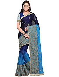 Tiggy Designer Embroidered Georgette Heavy Work Saree With Blouse Piece