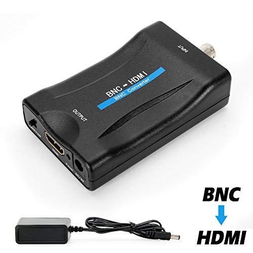 MakeTheOne BNC auf HDMI Converter, BNC Buchse zu to HDMI Video Konverter Adapter Box für Überwachungskamera CCTV Monitor mit 720P / 1080P HD Switch