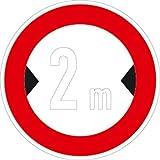 Verkehrszeichen VZ264, Verbot für Fahrzeuge über... Breite, Alu, RA1, Ø 42cm Verkehrsschild