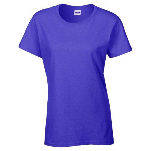 Gildan - Maglietta 100% Cotone - Donna Blu cobalto