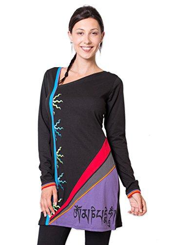 Coton Du Monde - Robe SHANNON Noir Multicolore