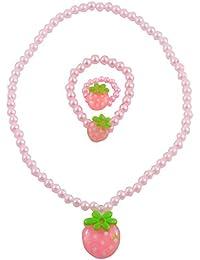 "Angel Glitter ""Sweet Like Strawberries"" 3-PCS Jewellery Set For Kids"