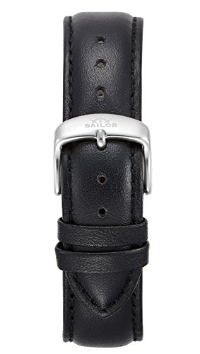 Sailor Damen Herren Leder Armband Basic Black schwarz BSL101-2020-20, Breite Armband:20mm (normal),