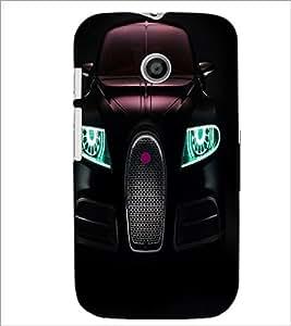 PrintDhaba Car Front D-3313 Back Case Cover for MOTOROLA MOTO E (Multi-Coloured)