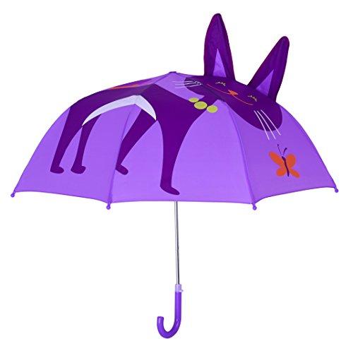 Rainbrace Paraguas infantil burbuja para niño/niña,gato