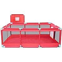LFY Parc de bébé bébé léger en Rouge avec Un Tapis et 200 balles