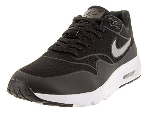 Nike Air Max 1 Ultra Moire, Sneakers basses femmes Nero (Black/Black/Metallic Silver/White)