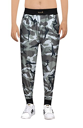 Yuvraah Men's camouflage Army Printed Track pant