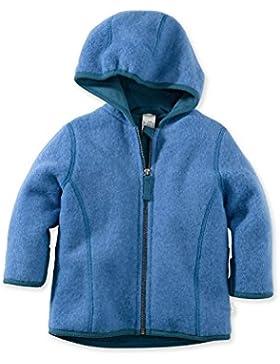 hessnatur Baby Baby/Kleinkind Wolljacke Wollfleece Jacke mit Kapuze - 100% Bio Merinowolle - unifarben unisex