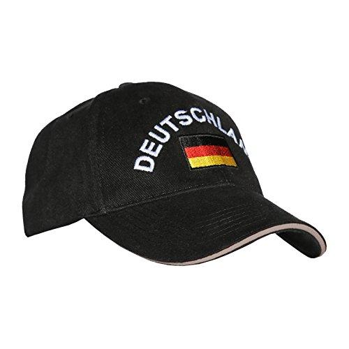 Deutschland Fussball Fun T-Shirt Ball WM 2014 cooles Set mit Deutschland Kappe Männer Shirt für Fussballfans Weiß