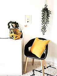 Grande lampe Origami jaune moutarde - Leewalia - lampe d'appoint - lampe design - lis
