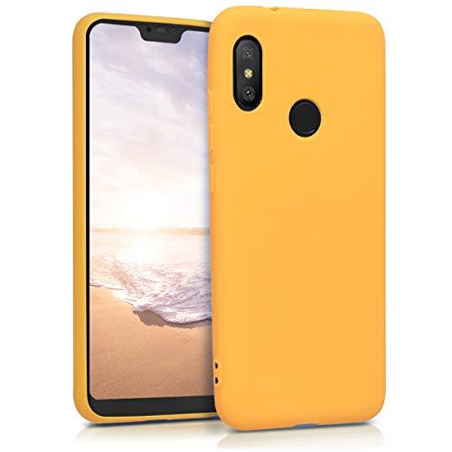 kwmobile Funda para Xiaomi Redmi 6 Pro/Mi A2 Lite - Carcasa para móvil en TPU Silicona - Protector Trasero en Amarillo Miel