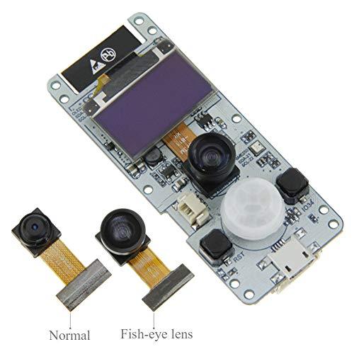 Balai Module caméra OLED T-Camera ESP32 WROVER PSRAM, Module caméra ESP32-WROVER-B OV2640 (Objectif Normal/Objectif fisheye)